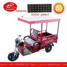 three wheels chinese chopper motorcycle with cargo tricycle have solar panel for sale