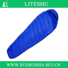 Colourful outdoor hot selling top quality camping sleeping bag down sleeping bag