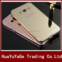 Aluminum Metal Bumper + Mirror PC back phone cases cover for Samsung Galaxy A9