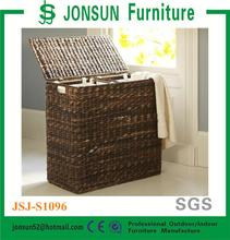 Jonsun seagrass with metal frame with removable cotton canvas liners baskets wholesale