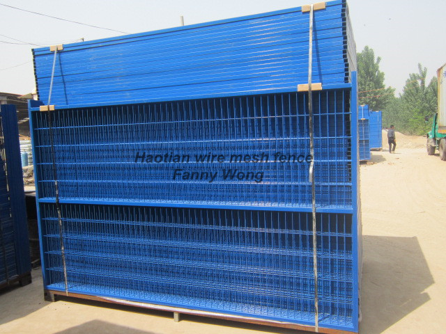 ISO certificated high quality pvc coated temporary fence Canada temporary fence panel