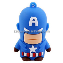 Mini USB Minion Captain America Flash Drive USB 2.0 Memory Flash