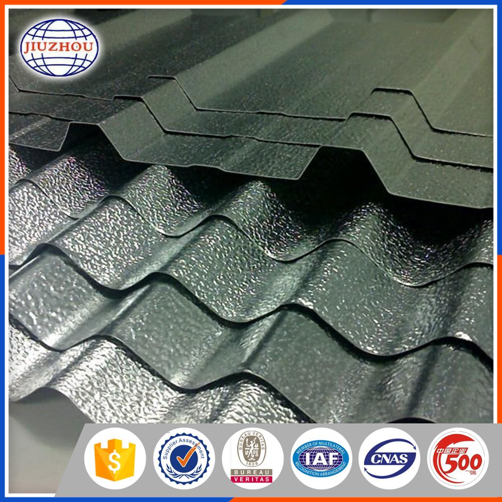 Trade Assurance Anti-Uv Galvalume Material Stone Coated Metal Corrugated Roofing Sheet