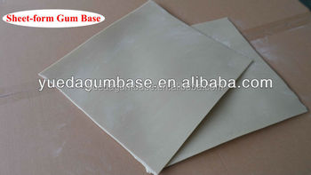 hot sell sheet-form gum base