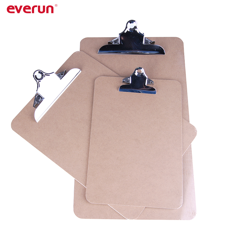 FC A4 A5 Size MDF Wood Clipboard With Butterfly Clip
