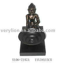 Buddha Style T-Light Holder w/Wooden Stand