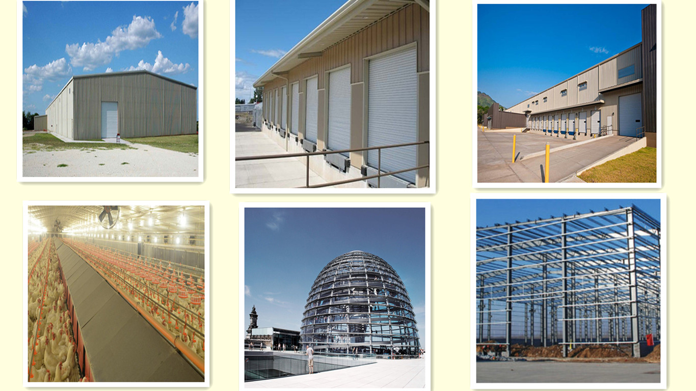 space frame steel column building