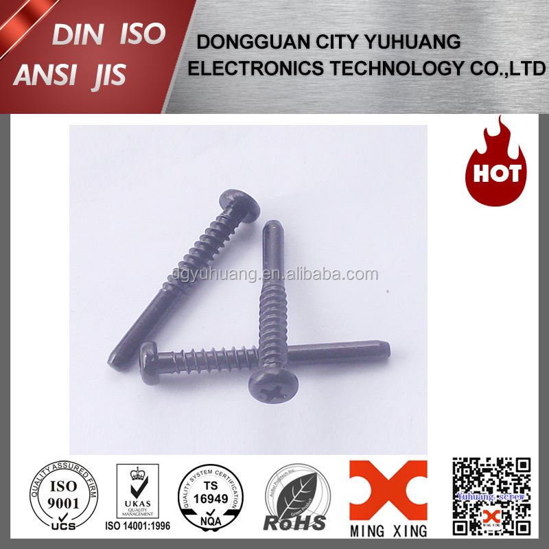 black anodized aluminium self tapping screw