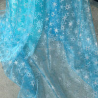 snowflake printed organza fabric for Frozen Elsa costume