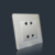 Hot sales double 2 pin socket with aluminum material electric wall socket