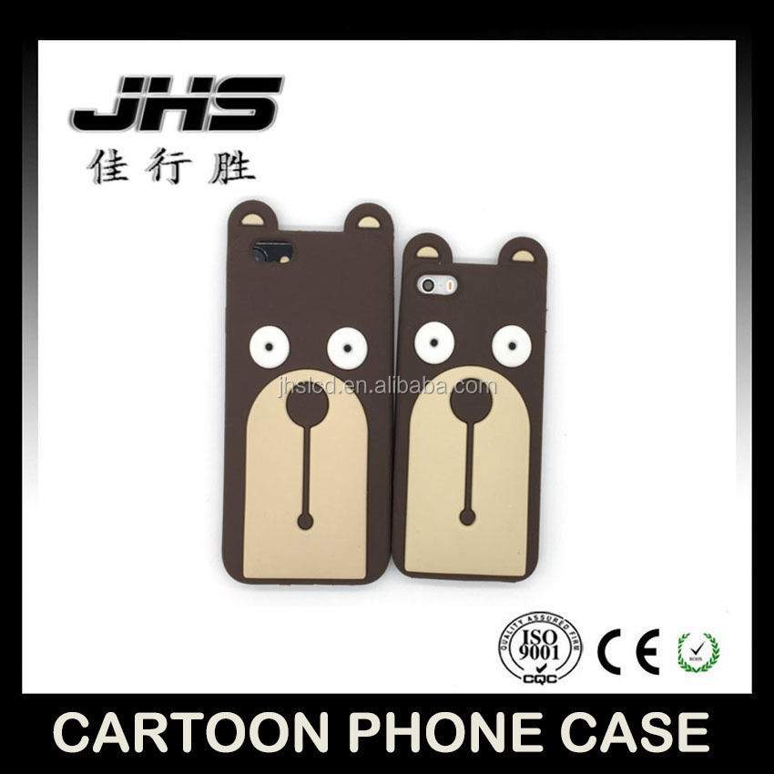 Hot selling cartoon 3d cute bear silicone mobile phone case for Iphone 5/6/7