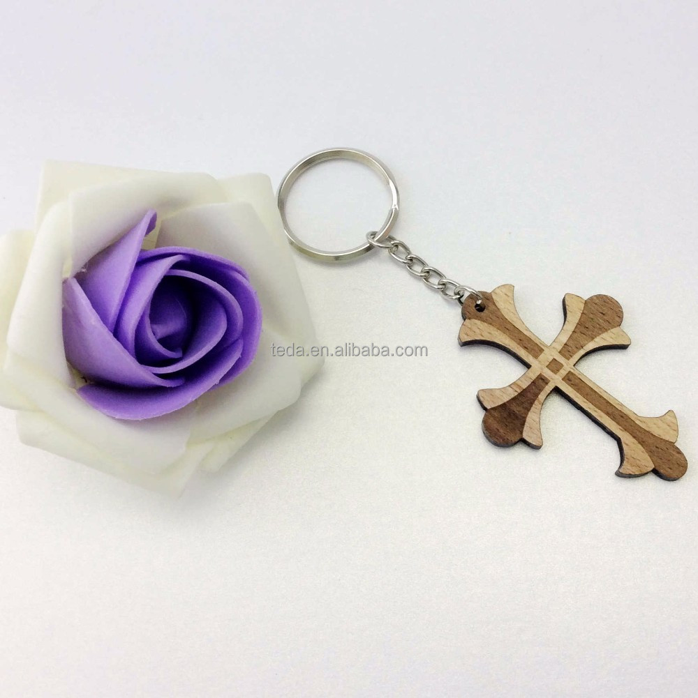 SD-357 Laser Cut Wood Keychain