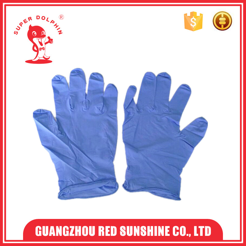 Light Purple Powder Free Disposable Nitrile Gloves
