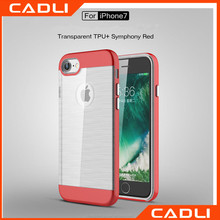 Phone Case For iPhone 7 / 7 Plus Transparent Brushed TPU + PC Protective Cover for iPhone 7 Plus