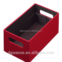 Polyester fabric storage box for CD/DVD