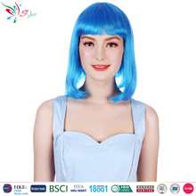 wholesale fashion synthetic hair women short blue bob wig