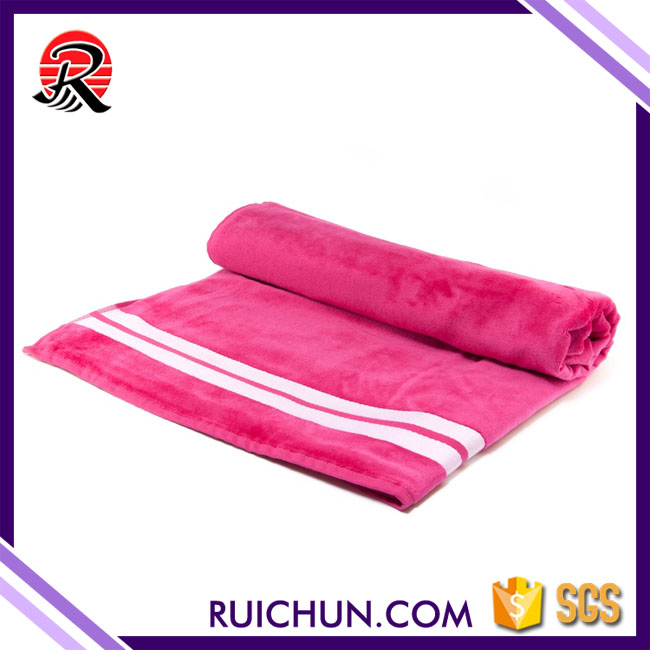 China alibaba cotton textile white and pink striped bath towels