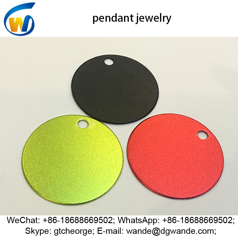 uv resistant matte satin finish custom color anodize aluminum pendant jewelry