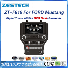 double din car dvd player for Ford Mustang auto parts with radio audio gps navigation BT mp3 TV multimedia