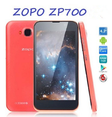 Cheap Unlocked Cell Phone ZOPO ZP700 Quad Core 4.7 inch Android 4.2 ZOPO ZP700 1GB RAM 4GB ROM 8.0 MP ZOPO ZP700 Unlocked Phone