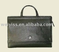 multi-purpose briefcase cheap document bag black leather portfolio in handle design for promotion gfits2013
