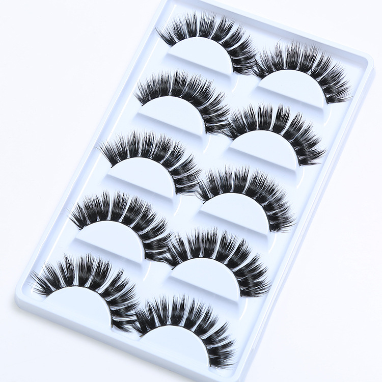 <strong>D007</strong> Make Your Own Brand Private Label 5 Pairs Professional False 3D Mink Eyelash Extension For Women