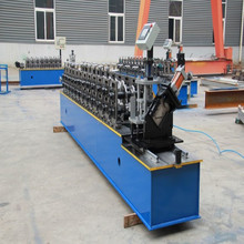 Poste canal maquina steel Metal Furring hat channel profile making machine