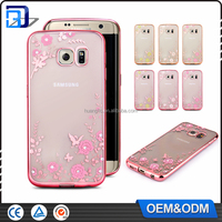 OEM ODM design glitter shockproof electroplating TPU waterproof phone cover for samsung galaxy j7