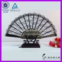 Custom Spanish Style Plastic Lace Folding Fan for Business Gift