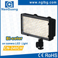CN-240CH Bi-color LED light LED on camera light video light for Canon 5D 7D 600D 550D