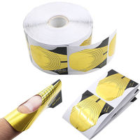 500 Pcs Gold Nail Guide Sticker Tape Adhesive Nails Art Sculpting Extension Forms Guide Stickers For Acrylic UV Gel Tips