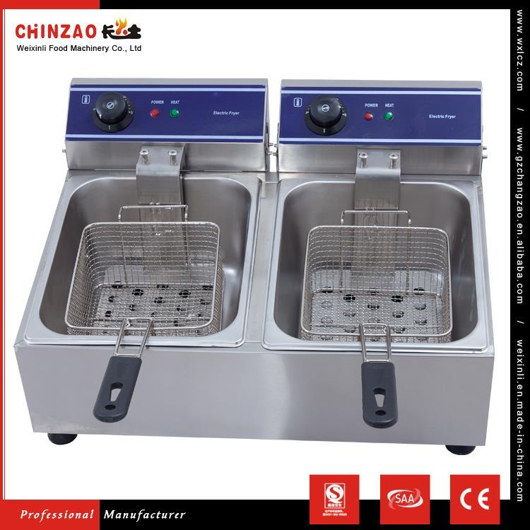 CHINZAO Import China Goods 180*210*100mm Basket Size Auto Chicken Deep Fryer