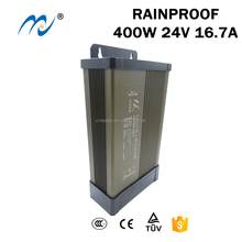400w 24v rainproof led driver power supply for building brightening