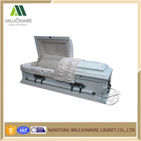 Infant cremation casket with metal hardware