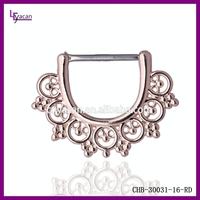 Piercing Body Jewelry Indian Style Non-piercing Nipple Clip