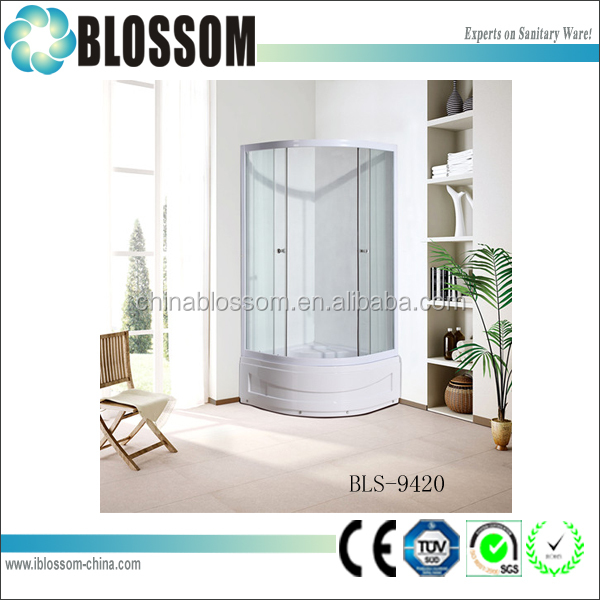 2015 hangzhou Blossom new cheap sanitary ware stalls shower enclosure