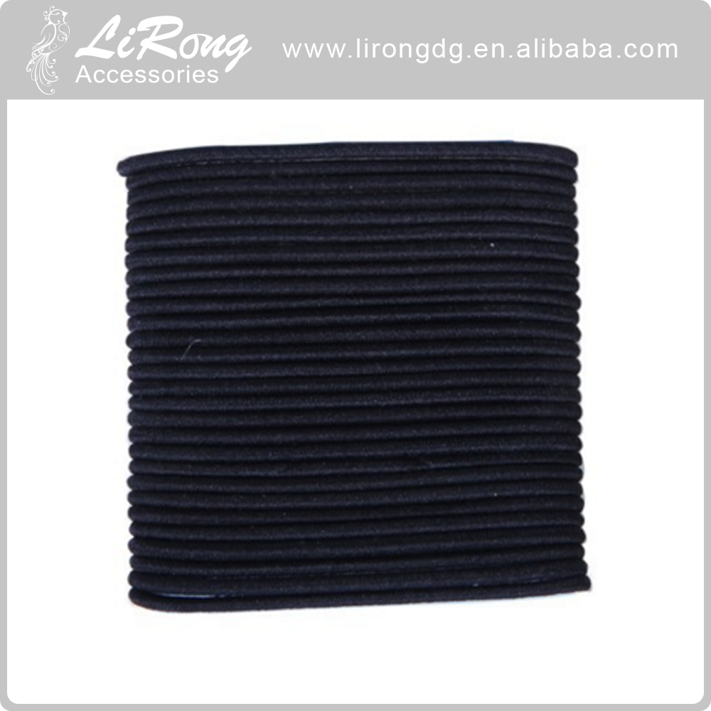 4mm Normal black elastic hair Band 5.5inch length wholesale hair band