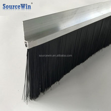 factory custom aluminium holder seal lift safety nylon strip brush with high quality