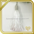 White tassel fringe trim mini graduation silk tassels FT-027