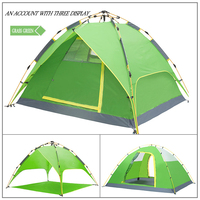 High Quality Custom Modern Design Superior foldable 3-4 Person family with kids camping rooftop tent Camping Family Tent