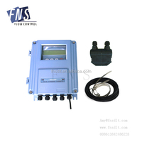 FNS China 4-20mA Wall Mounted Clamp on Ultrasonic Flow Meter Digital flow meter
