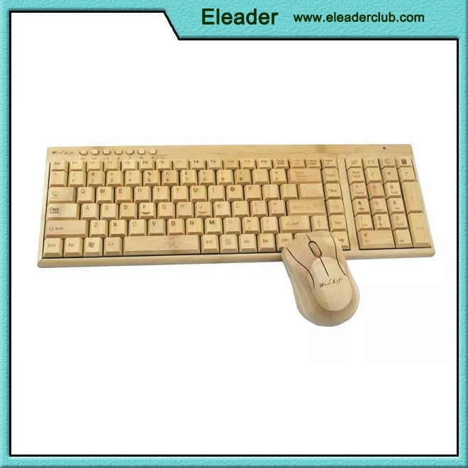 Full Bamboo Wireless Keyboard and Mouse
