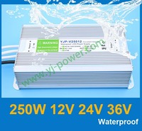 (YJP-V25024) 250W 24VDC Waterproof Led Switching Power Supply 24v led driver 250w, CE RoHS IP67 certification