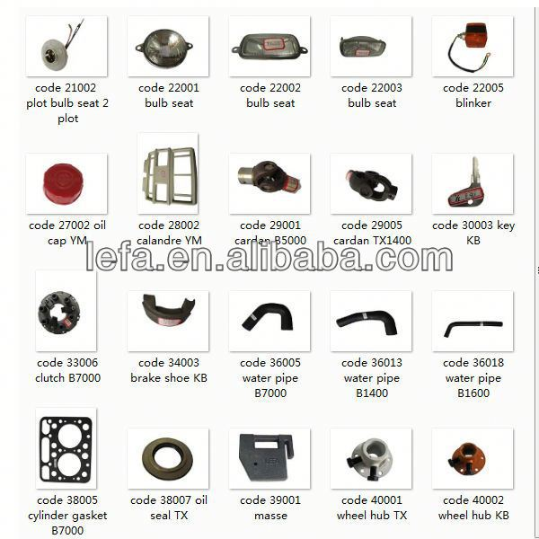 hot sell Used claas combine harvester spare parts for Janpanese tractors