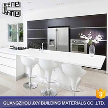 Guangzhou high gloss kitchen furniture white luxury modern lacquer kitchen cabinet designs