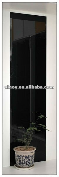 Black Classic painted Lacquered Glass