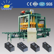 QTJ4-25 cement block & brick making machine/automatic brickmaking machine 4000 bricks
