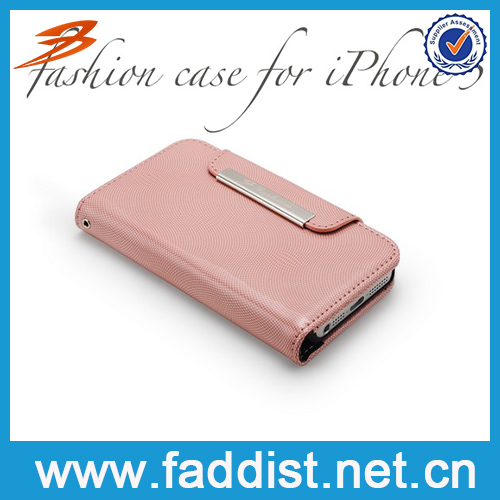 Fashion PU Leather Diamond Case for iphone 5 Bling Cover