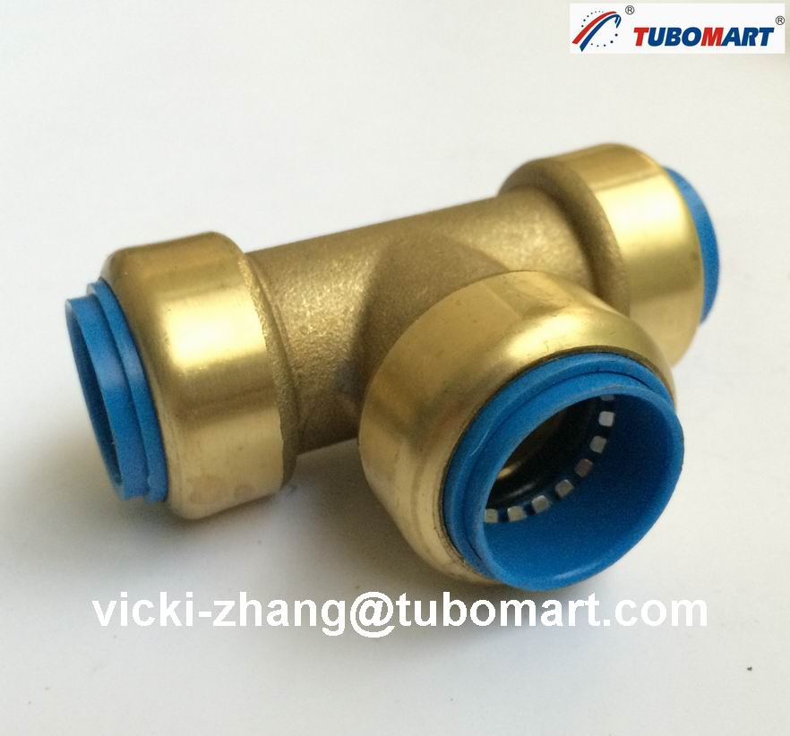 Lead free brass push in fittings quick fitting for pvc for Copper to plastic plumbing