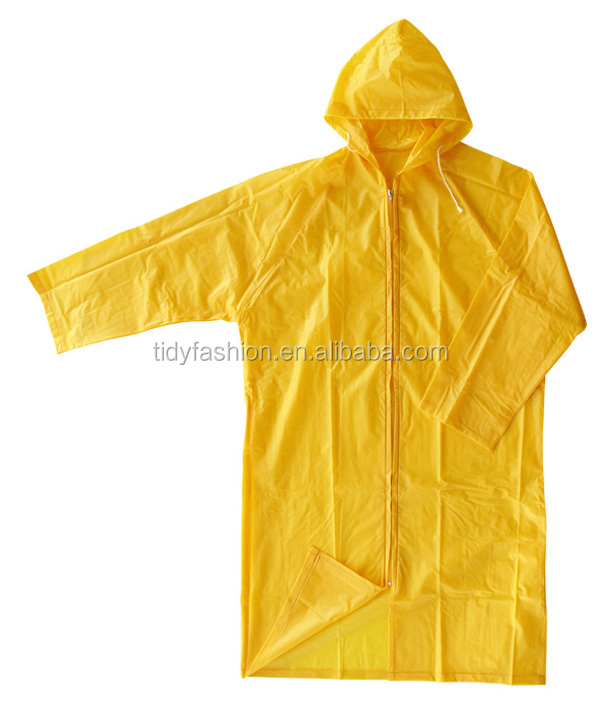 Mens Yellow Waterproof PVC One Piece Rain Suits With Zip